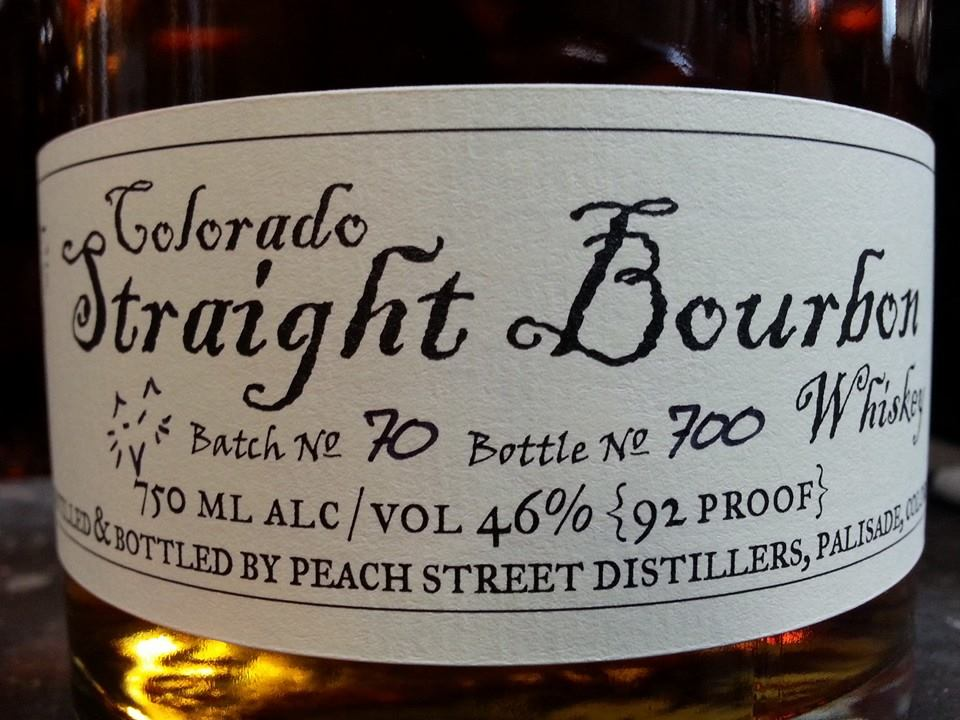 Bourbon made in Colorado
